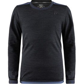 Craft Fuseknit Comfort Round Neck LS Shirt Barn black